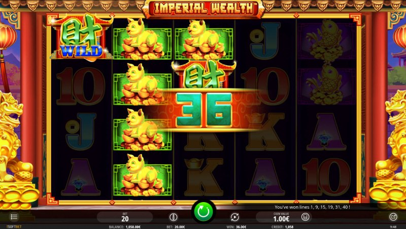 Play slots at Betchan: Betchan featuring the Video Slots Imperial Wealth with a maximum payout of $10,000