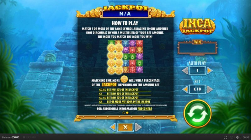 Inca Jackpot :: How To Play