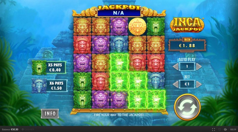 Inca Jackpot :: Multiple winning combinations