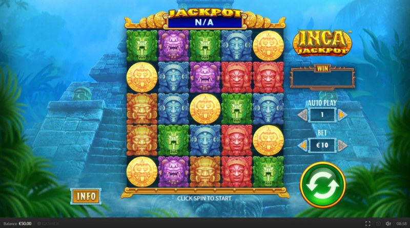 Inca Jackpot :: Main Game Board