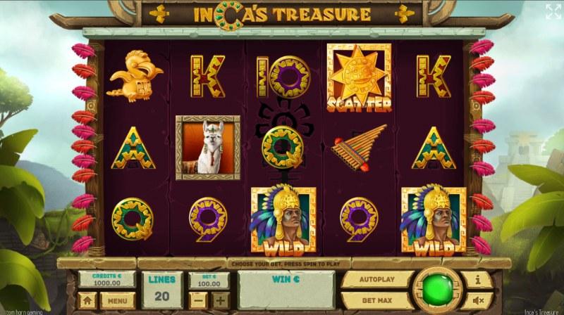 Inca's Treasure :: Base Game Screen
