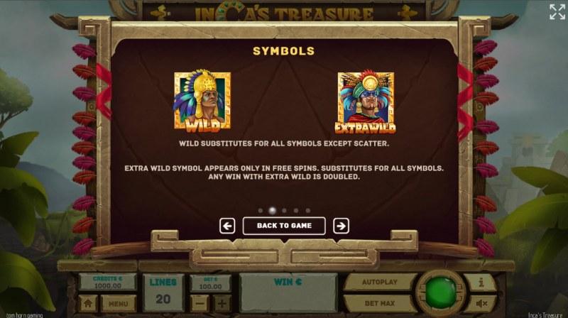 Inca's Treasure :: Wild Symbol Rules