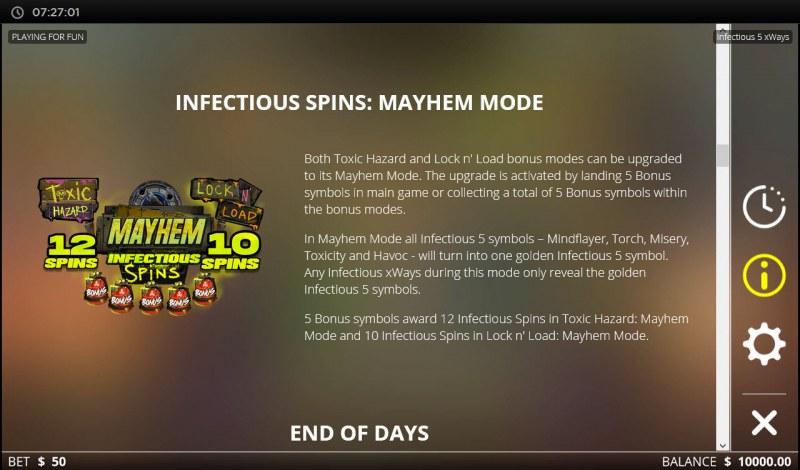 Infectious 5 xWays :: Mayhem Mode