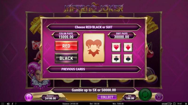 Inferno Joker :: Gamble Feature Game Board