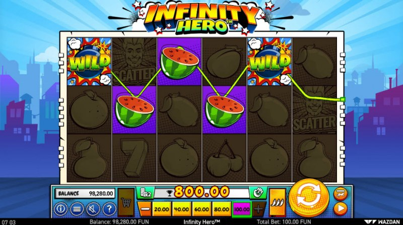 Infinity Hero :: A four of a kind Win