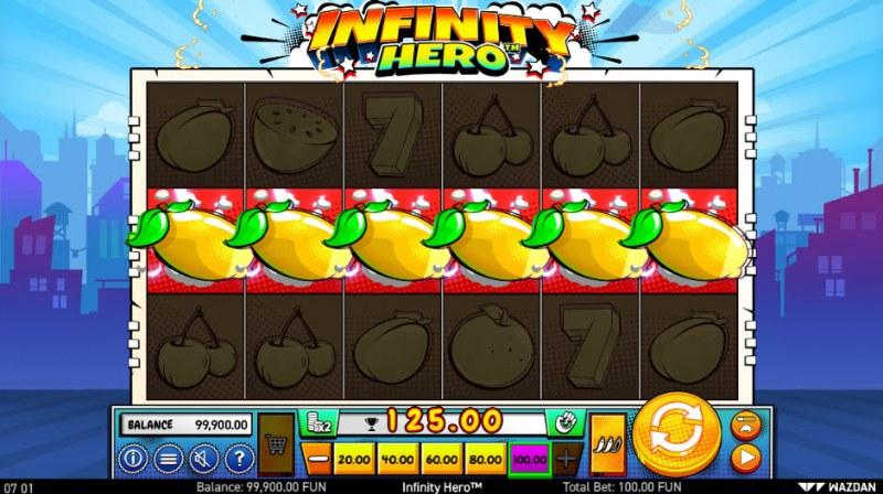 Infinity Hero :: A five of a kind win