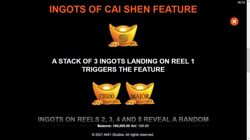 Ingots of Cai Shen :: Feature Rules