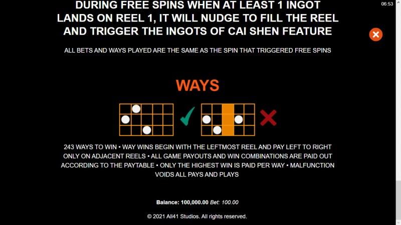 Ingots of Cai Shen :: 243 Ways to Win