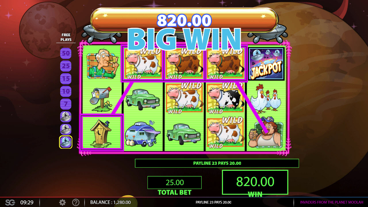 Invaders from the Planet Moolah :: Big Win