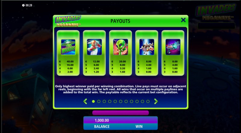 Invaders Megaways :: Paytable - High Value Symbols