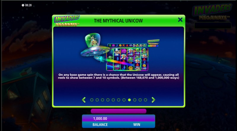 Invaders Megaways :: The Mythical Unicow