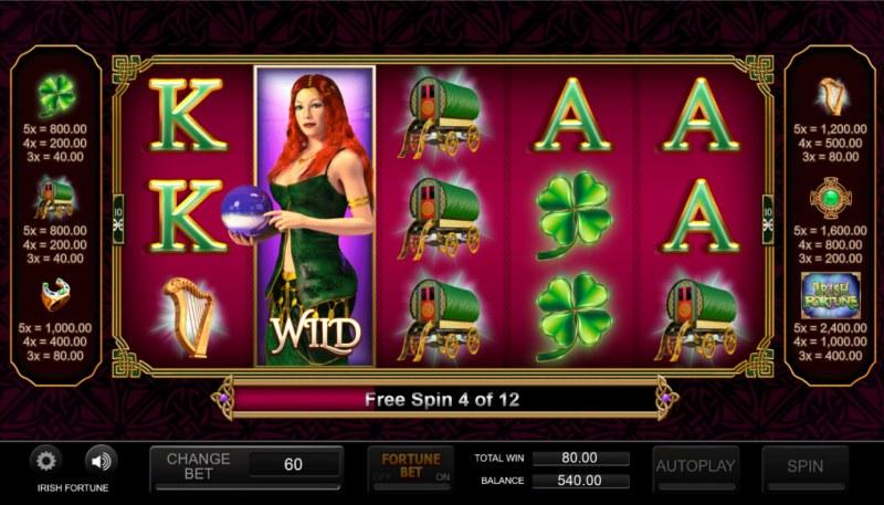 Irish Fortune :: Free Spins Game Board