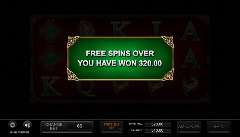 Irish Fortune :: Total Free Spins Payout