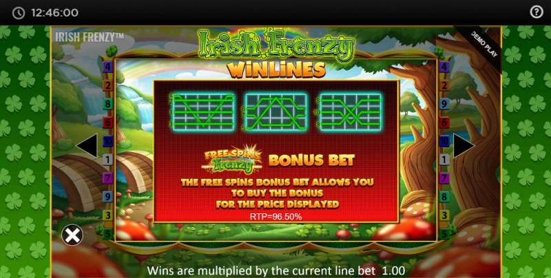 Irish Frenzy :: Free Spins Bonus Bet