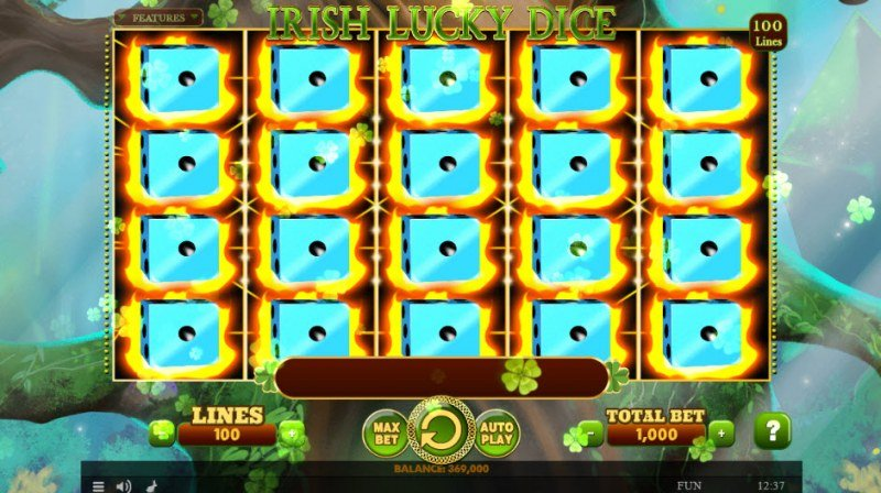 Irish Lucky Dice :: Fully stacked reels leads to a big win