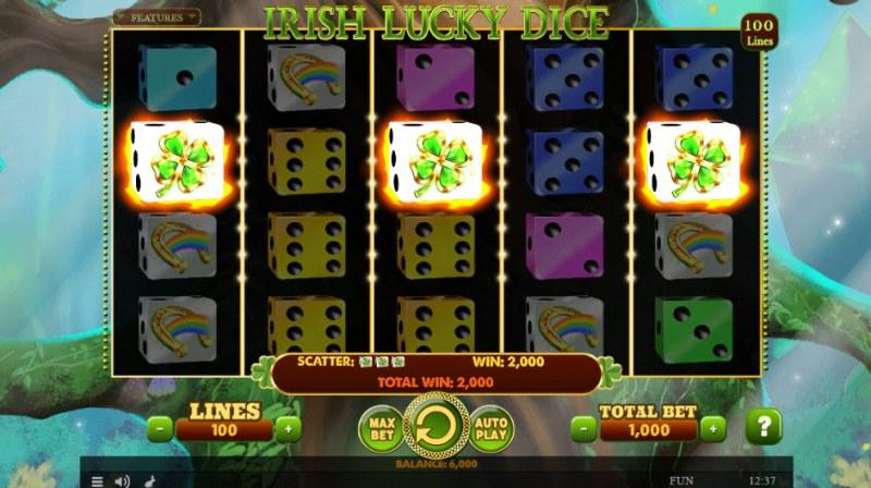Irish Lucky Dice :: Scatter Win