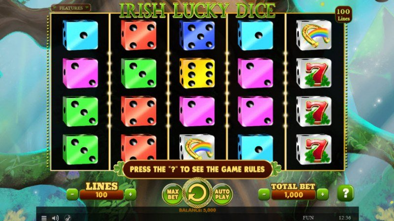 Irish Lucky Dice :: Main Game Board