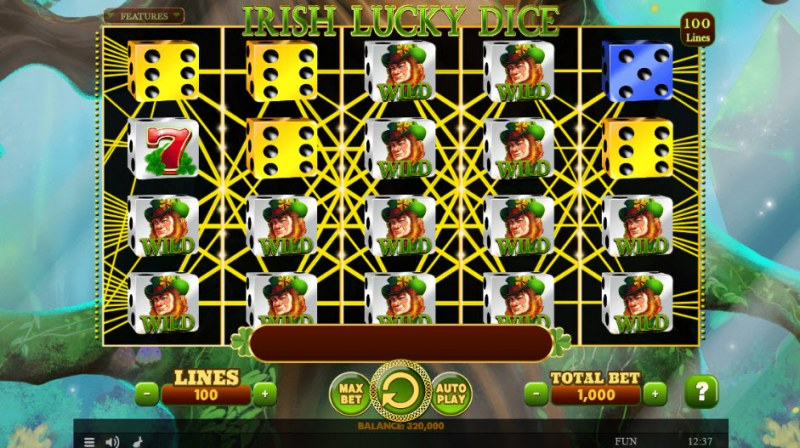 Irish Lucky Dice :: Multiple winning paylines