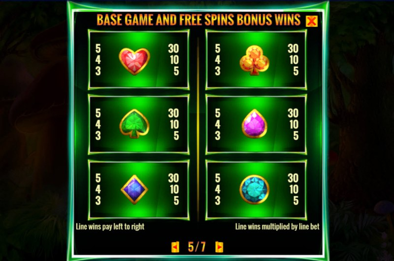 Irish Magic :: Paytable - Low Value Symbols