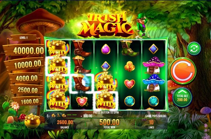 Irish Magic :: Multiple winning combinations