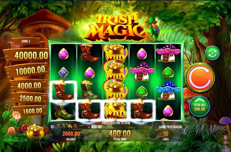 Irish Magic :: A four of a kind win
