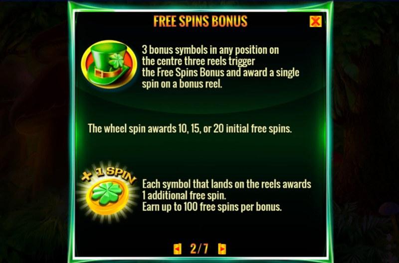 Irish Magic :: Free Spin Feature Rules