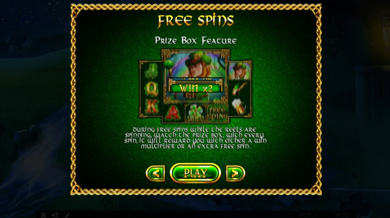 Irish Treasures :: Free Spins Rules