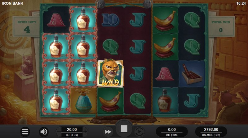 Iron Bank :: Free Spins Game Board