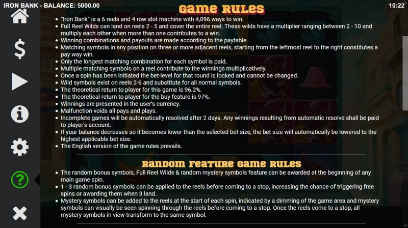 Iron Bank :: General Game Rules