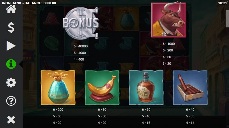 Iron Bank :: Paytable - High Value Symbols