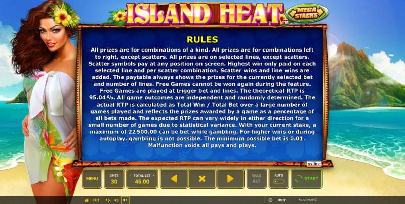 Island Heat :: General Game Rules