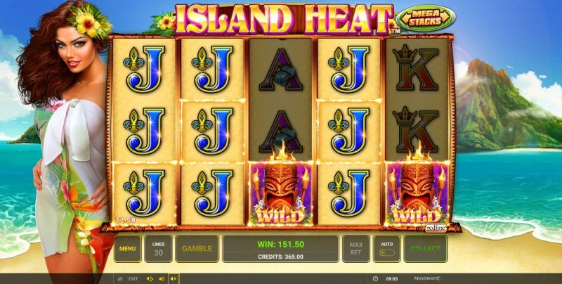 Island Heat :: Multiple winning combinations leads to a big win