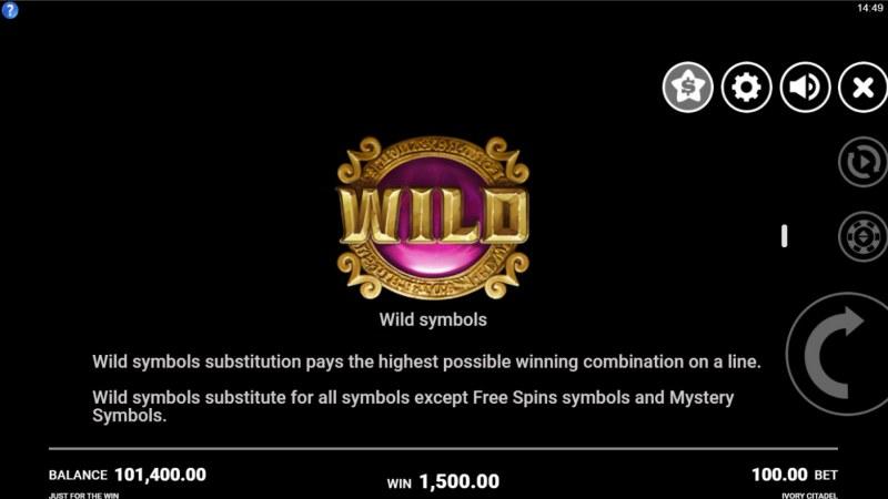 Ivory Citadel :: Wild Symbol Rules