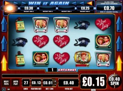Leo Vegas featuring the Video Slots I Love Lucy with a maximum payout of $10,000