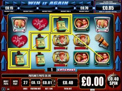 Wicked Jackpots featuring the Video Slots I Love Lucy with a maximum payout of $10,000