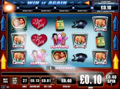 BGO Vegas featuring the Video Slots I Love Lucy with a maximum payout of $10,000