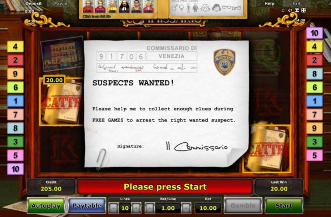 Suspects Wanted! Pleas help me to collect enough clues during Free Games to arrest the right wanted suspect.