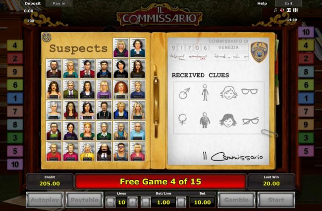 Suspects List and Clues List,