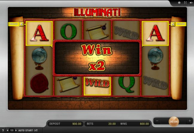 Dream Vegas featuring the Video Slots Illuminati with a maximum payout of $8,000