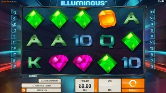 Wintingo featuring the Video Slots Illuminous with a maximum payout of $40,000