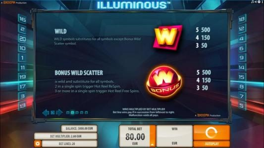 Boaboa featuring the Video Slots Illuminous with a maximum payout of $40,000