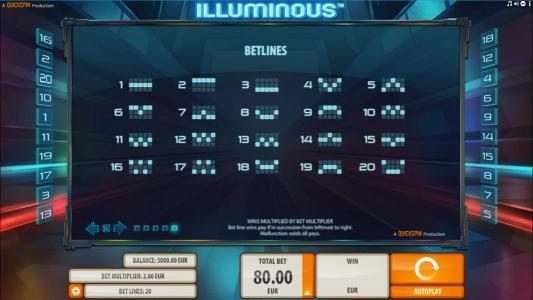 Next Casino featuring the Video Slots Illuminous with a maximum payout of $40,000