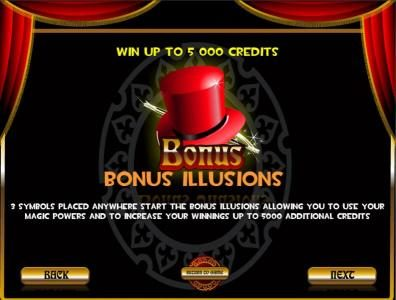 Casdep featuring the Video Slots Illusions with a maximum payout of $25,000