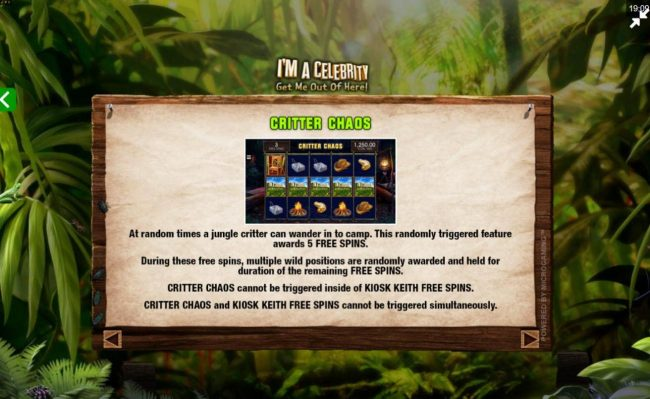 Zodiac featuring the Video Slots I'M A Celebrity Get Me Out of Here! II with a maximum payout of $75,000