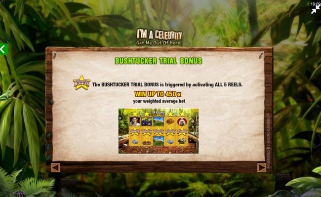 Casimba featuring the Video Slots I'M A Celebrity Get Me Out of Here! II with a maximum payout of $75,000