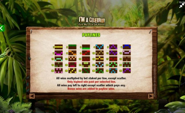 Casino-X featuring the Video Slots I'M A Celebrity Get Me Out of Here! II with a maximum payout of $75,000