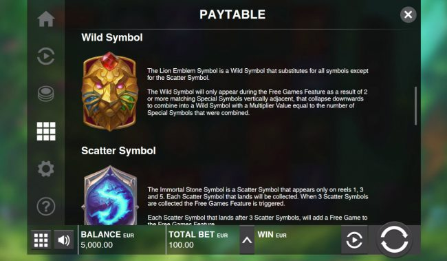 Yoyo featuring the Video Slots Immortal Guild with a maximum payout of $200,000