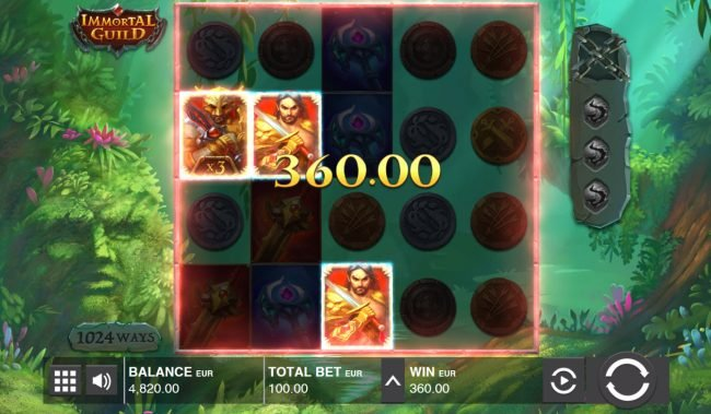 Play slots at Greenspin: Greenspin featuring the Video Slots Immortal Guild with a maximum payout of $200,000