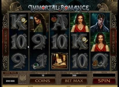 Players Palace featuring the Video Slots Immortal Romance with a maximum payout of $3,645,000