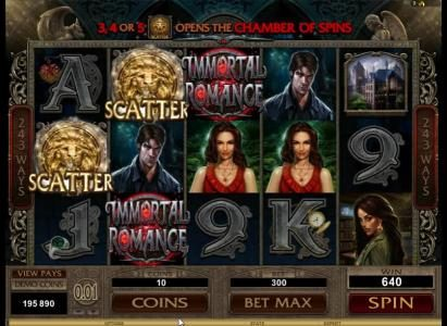 Virgin featuring the Video Slots Immortal Romance with a maximum payout of $3,645,000